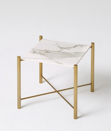 WHITE GOLD SIDE  TABLE