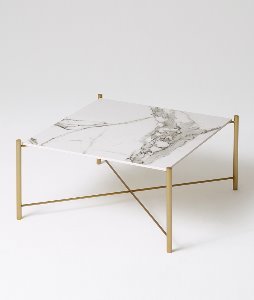 WHITE GOLD SOFA TABLE